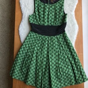 Frock By Tracy Reese Emerald Star Embroidery dress